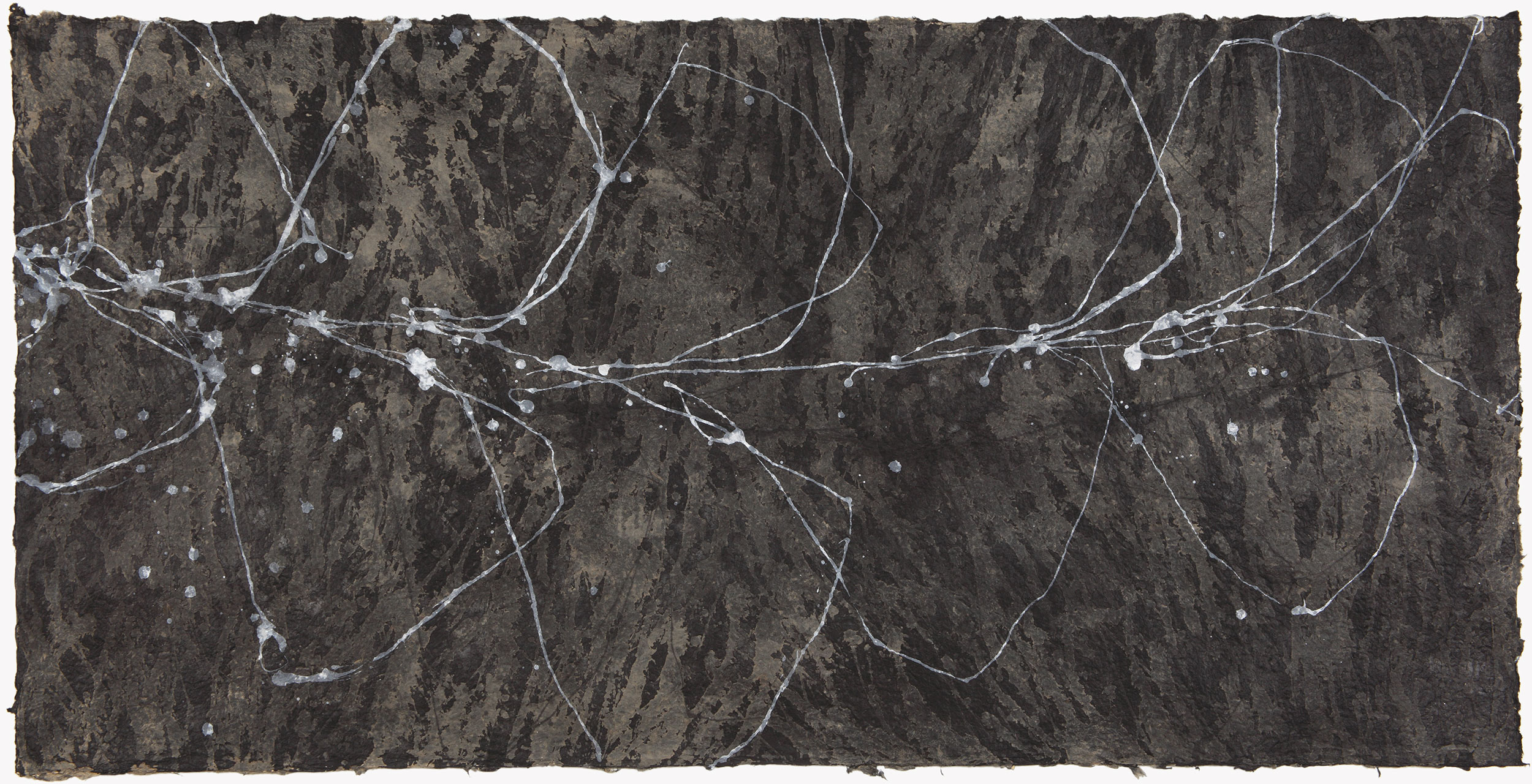 "DARK BLOOM    32""X64""  ACRYLIC AND SUMI INK ON PAPER  2012"