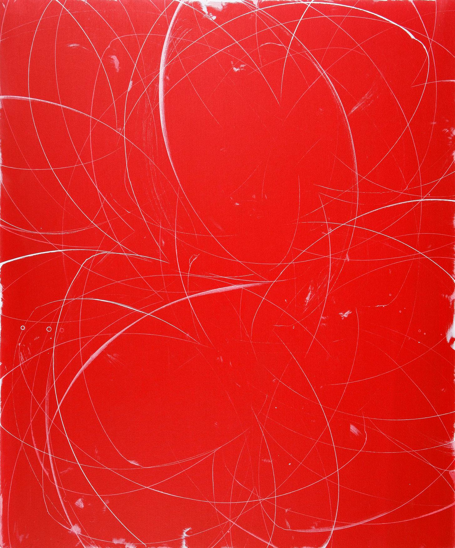 "slingshot  60""X50  ""   ACRYLIC on canvas   2008"