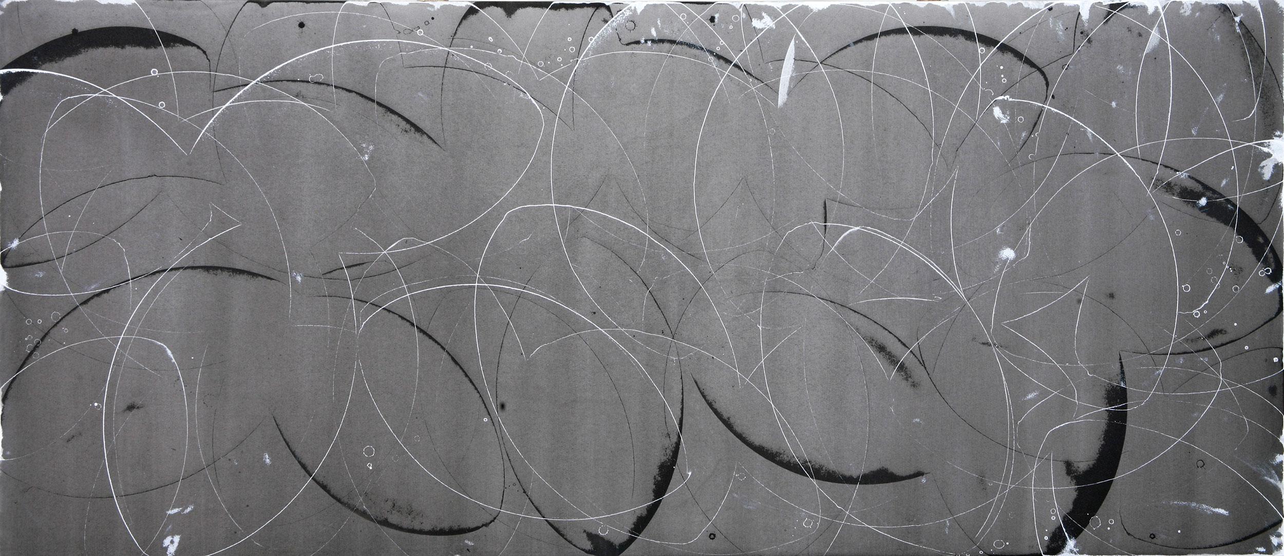 """startle  42""""x96"""" acrylic on canvas 2006"""