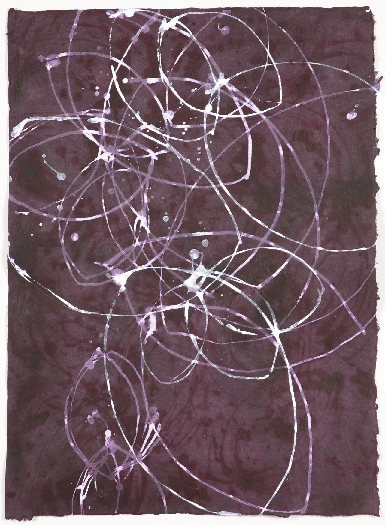 """loops 36  30""""x22""""  ACRYLIC ON PAPER 2006"""