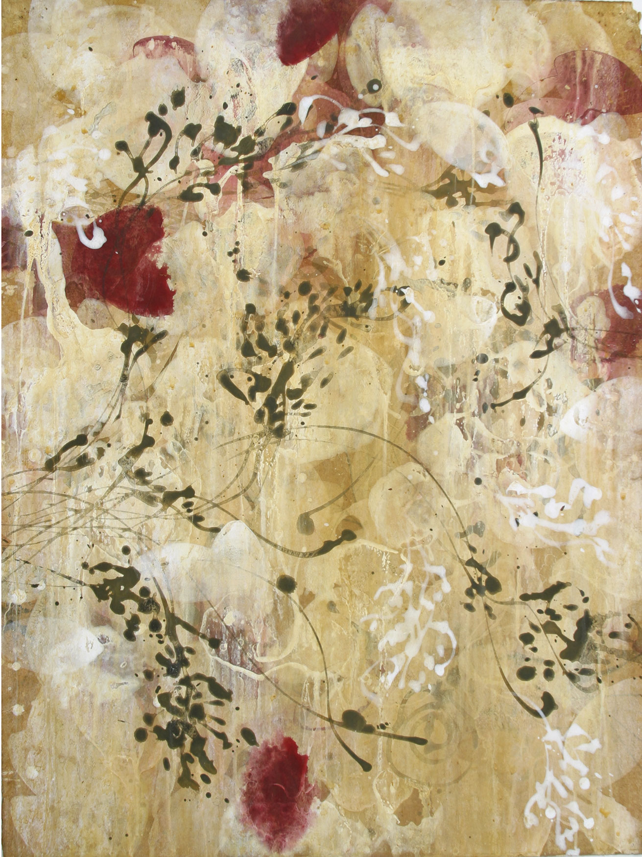 """rosewater   30""""X22""""   ACRYLIC ON paper2001"""