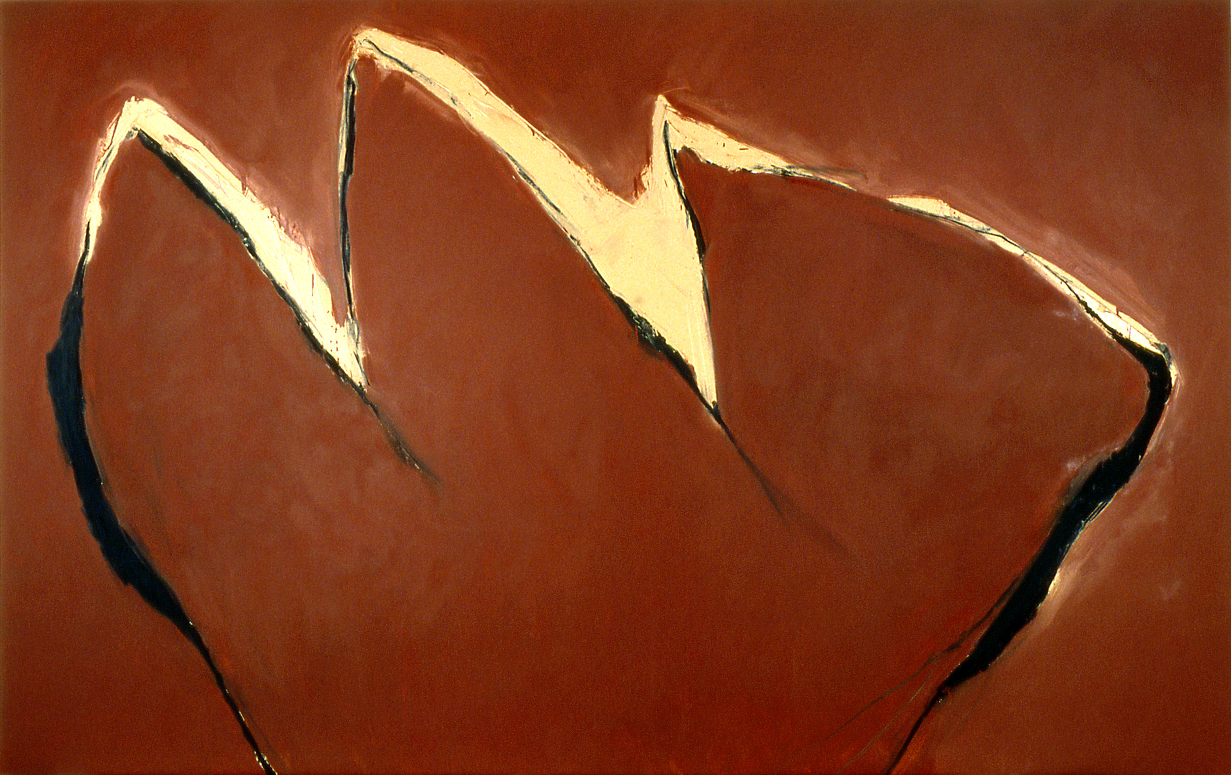 "django    65""X103""    oil and paintstick ON CANVAS  1981"