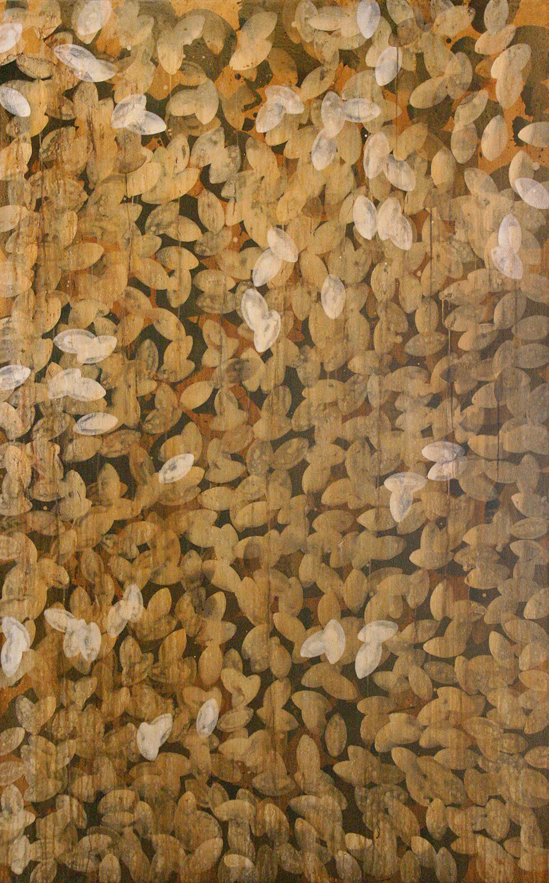 "verdigris  76""x52"" acrylic on canvas 1997"