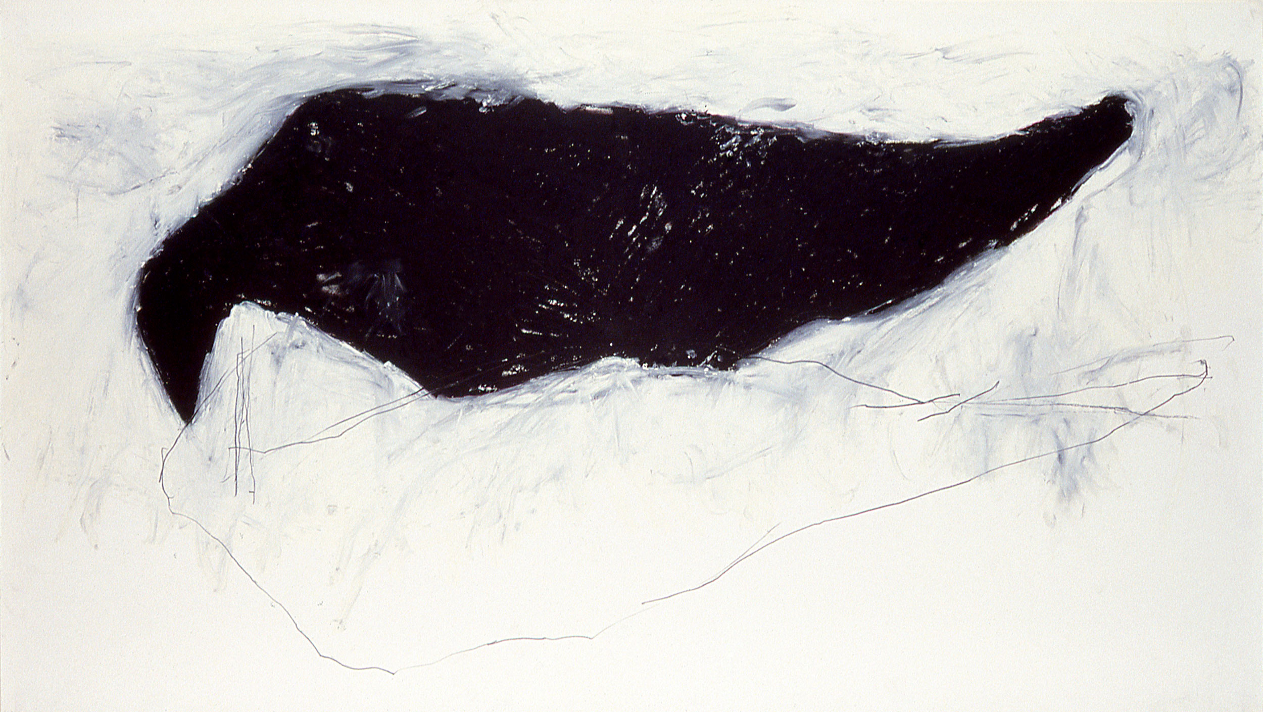 "Untitled    34""X60""    oil stick on paper    1987"