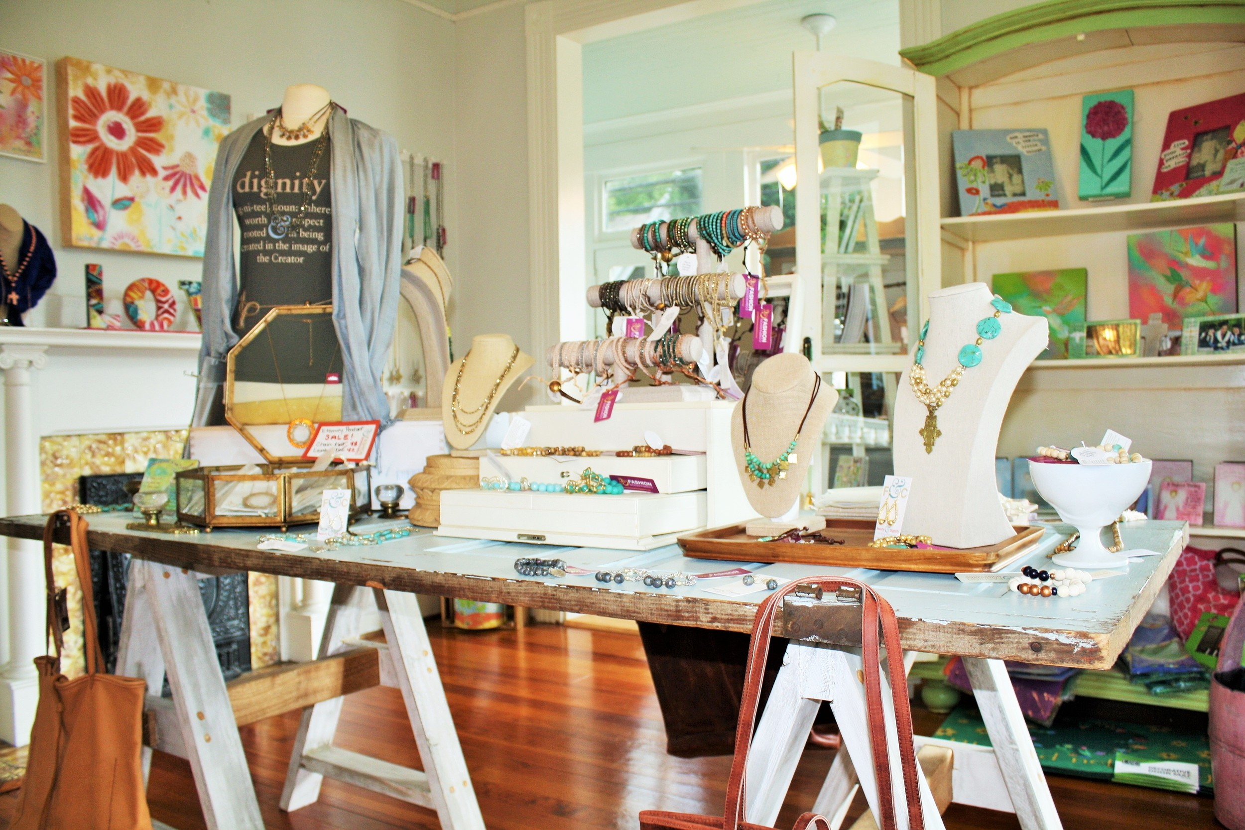 This is just one of three rooms in the house that has been converted to a boutique - SO CUTE!!!