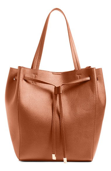 BP faux leather drawstring tote