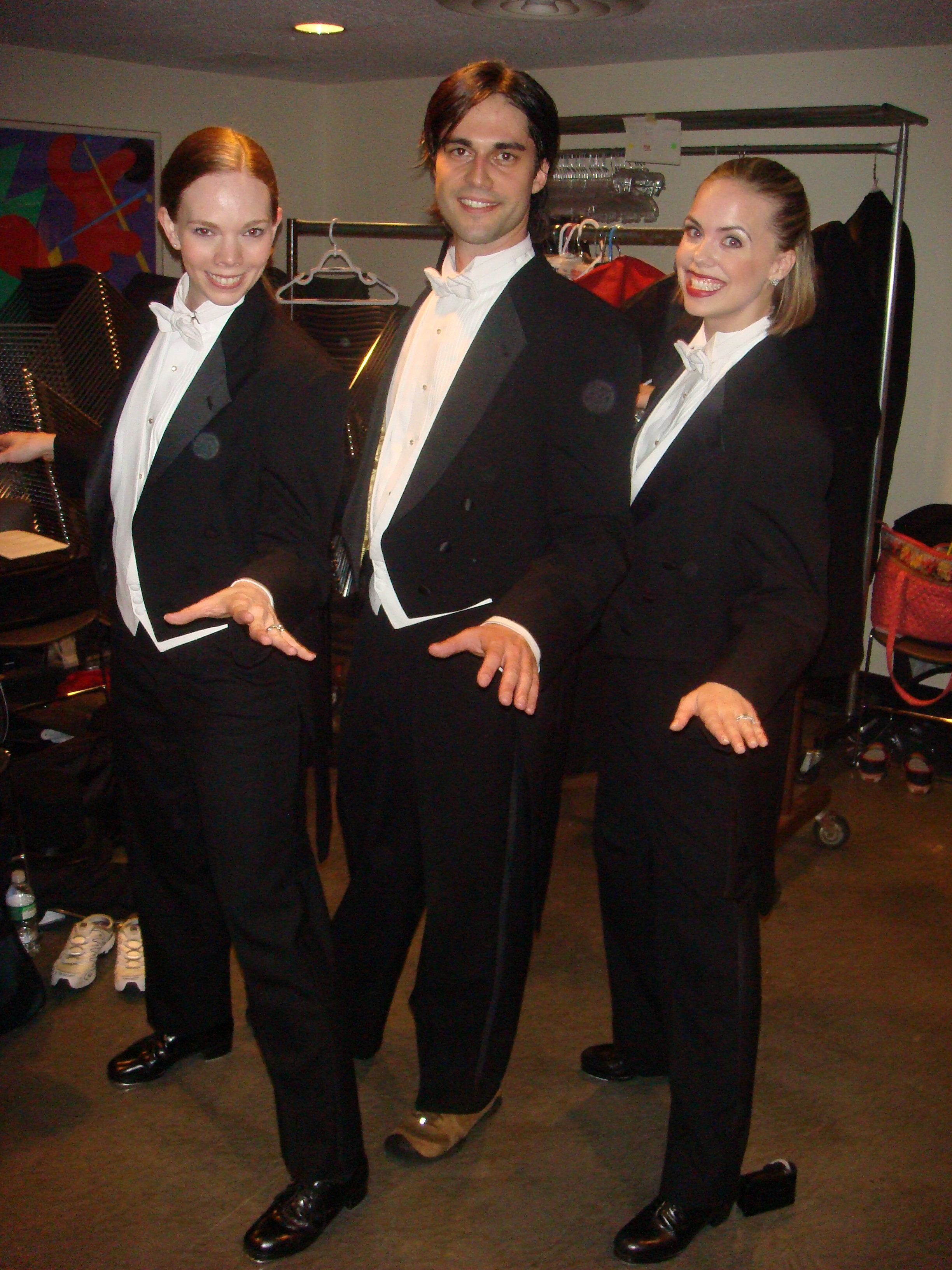 BEHIND STAGE WITH FELLOW TAPPERS TO PERFORM IN  BROADWAY'S GREATEST SHOWSTOPPERS .