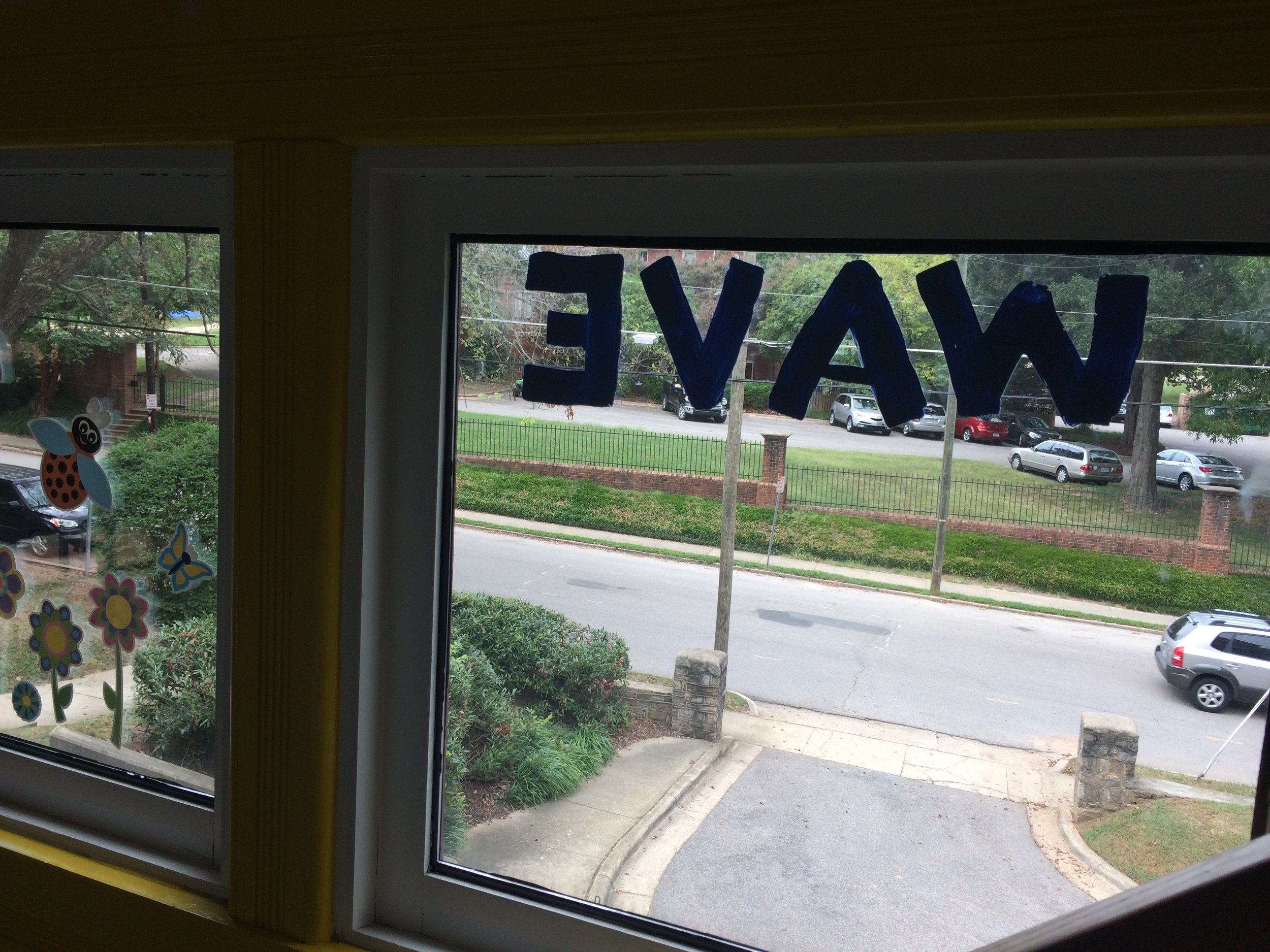 INDOOR VIEW OF THE WAVE WINDOW.
