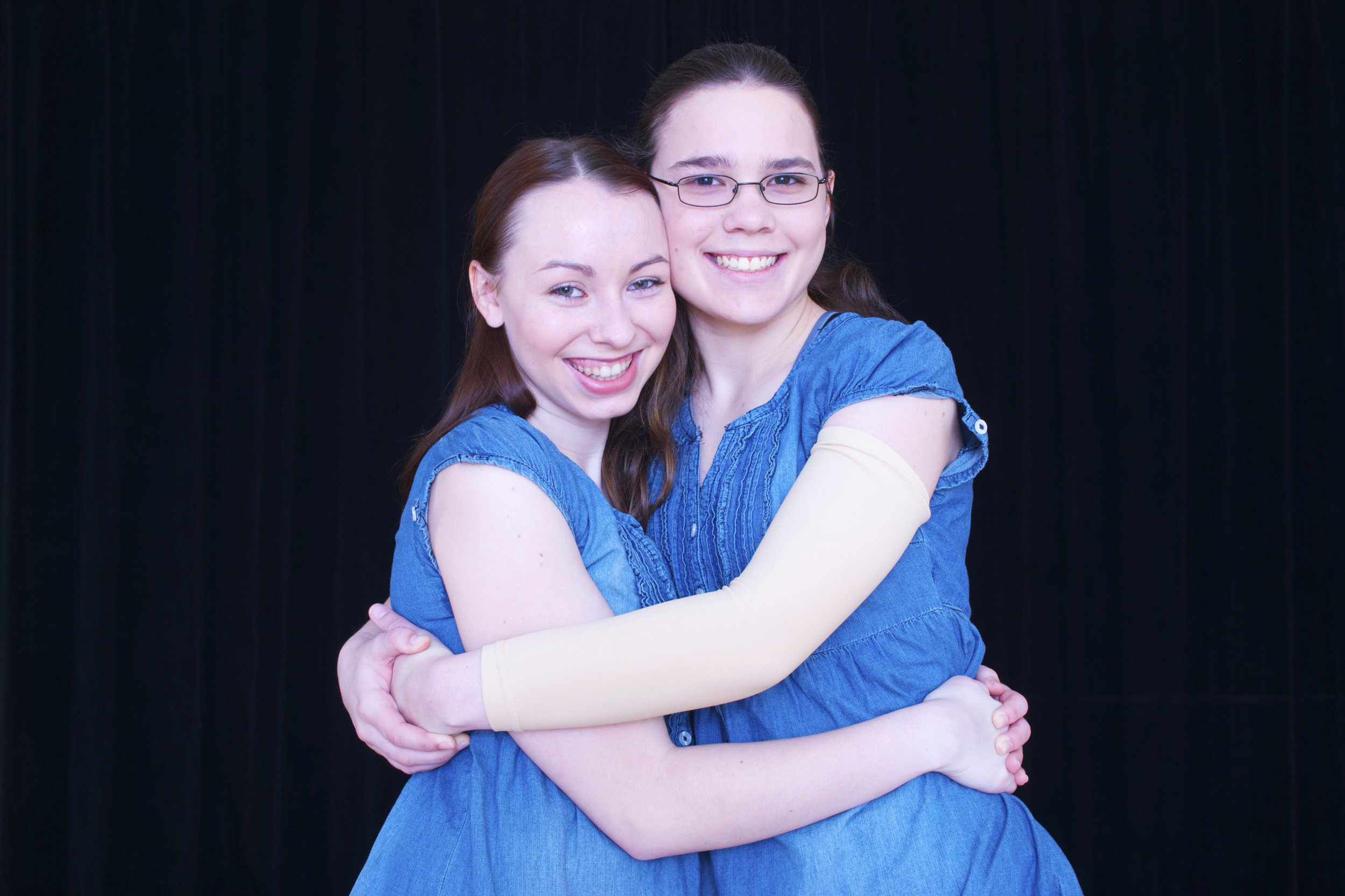 KATIE (RIGHT) WITH HER BEST DANCE FRIEND NATALIE.  ABOVE IMAGE:  KATIE ZOBEL PERFORMING IN THE RAINBOW DANCE CONCERT HER SENIOR YEAR.
