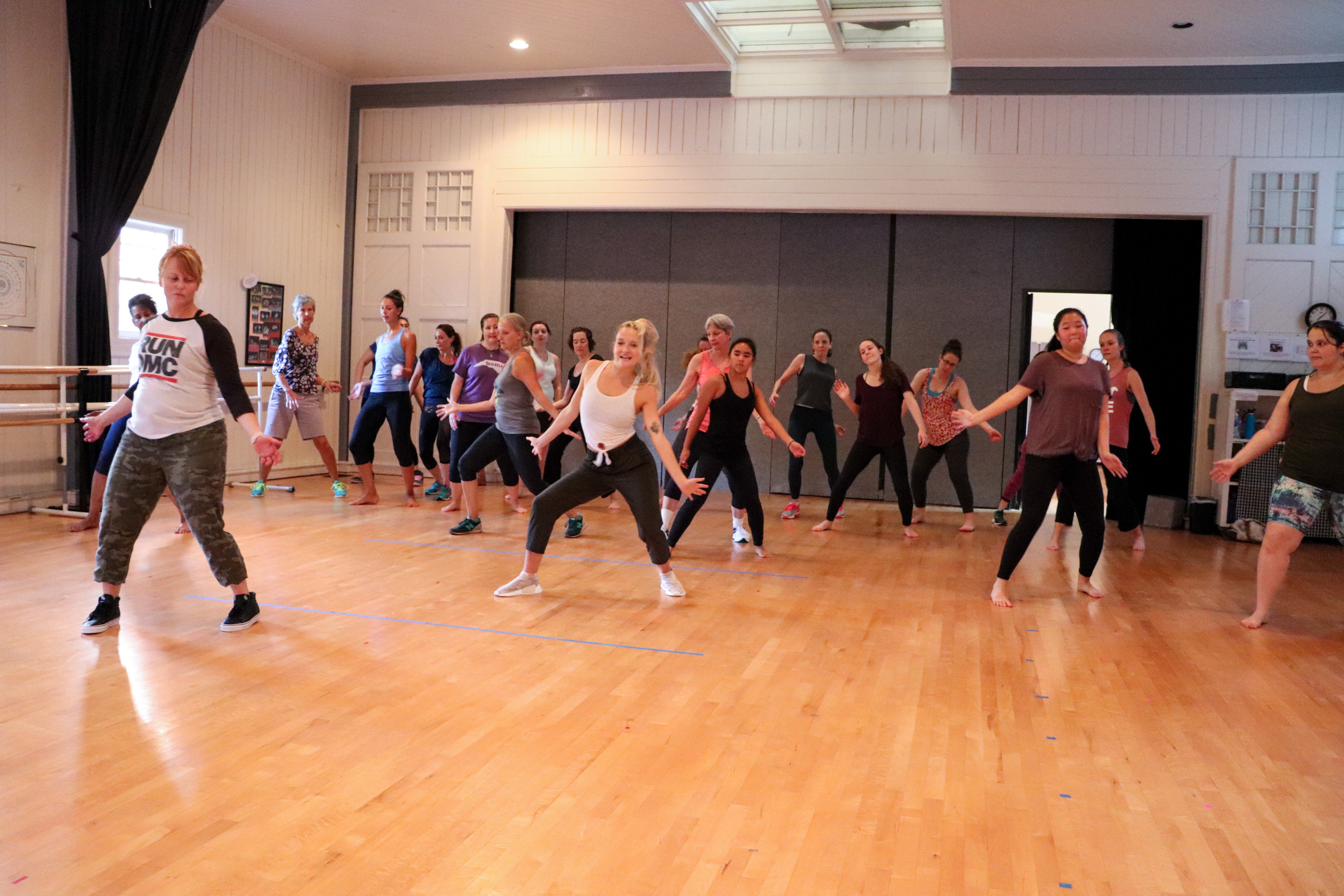 Summer dance participants learning the ins and outs of hip hop.