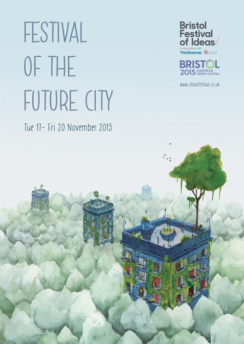 Commissioned Illustration for Bristol Festival of Ideas - Festival of The Future City.