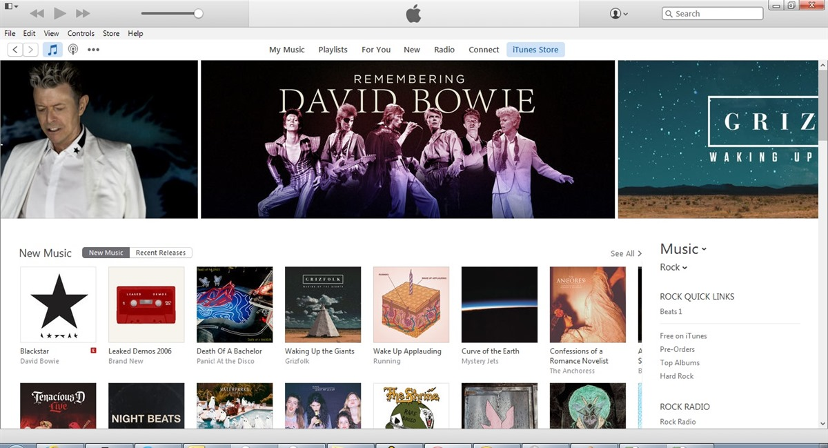 Ah-mazing! The album is now featured on the front page of iTunes in the U.S. being watched over by the glorious David Bowie…