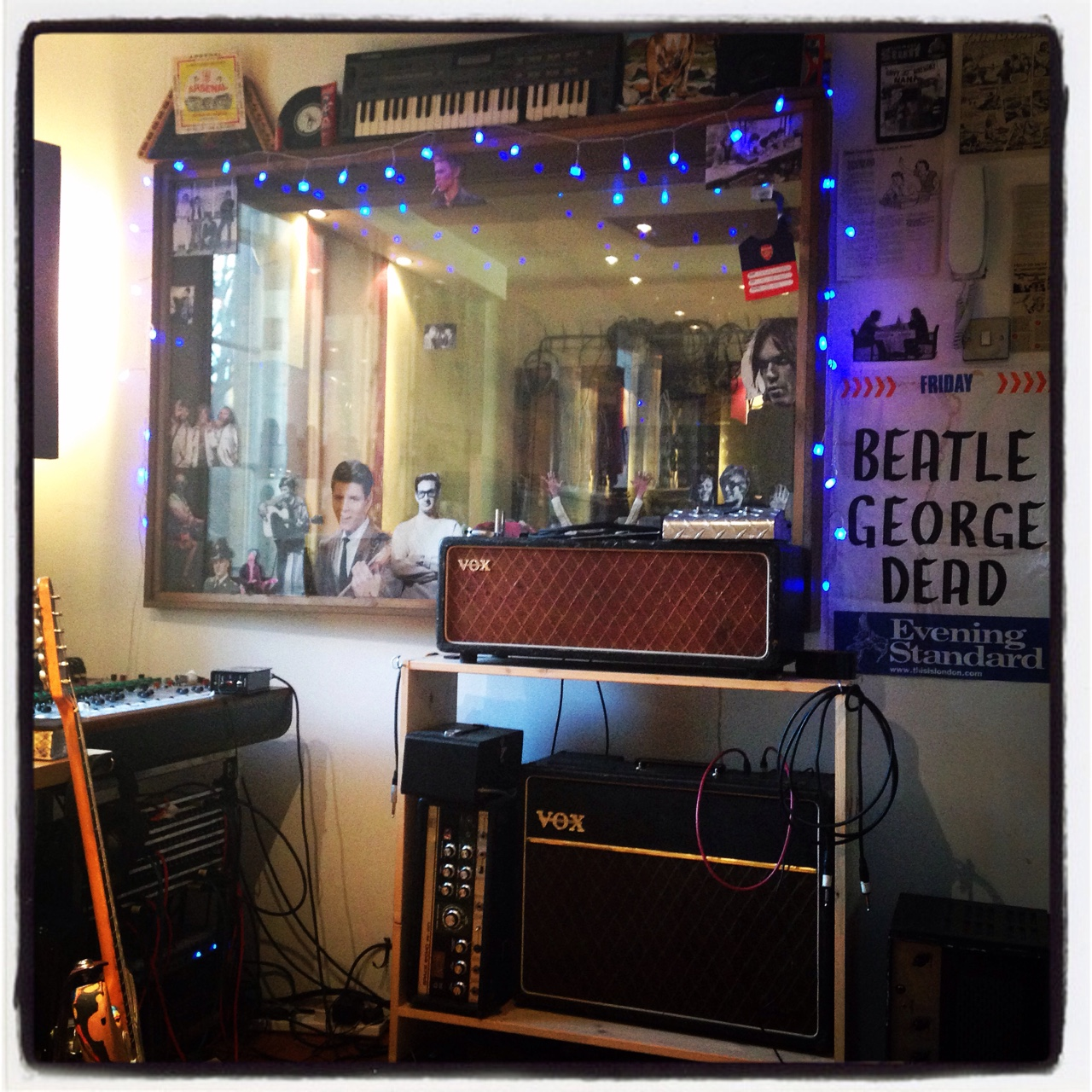 Magical few days in the studio with Bernard Butler. Album 2 may be ready before Album 1 at this rate…!