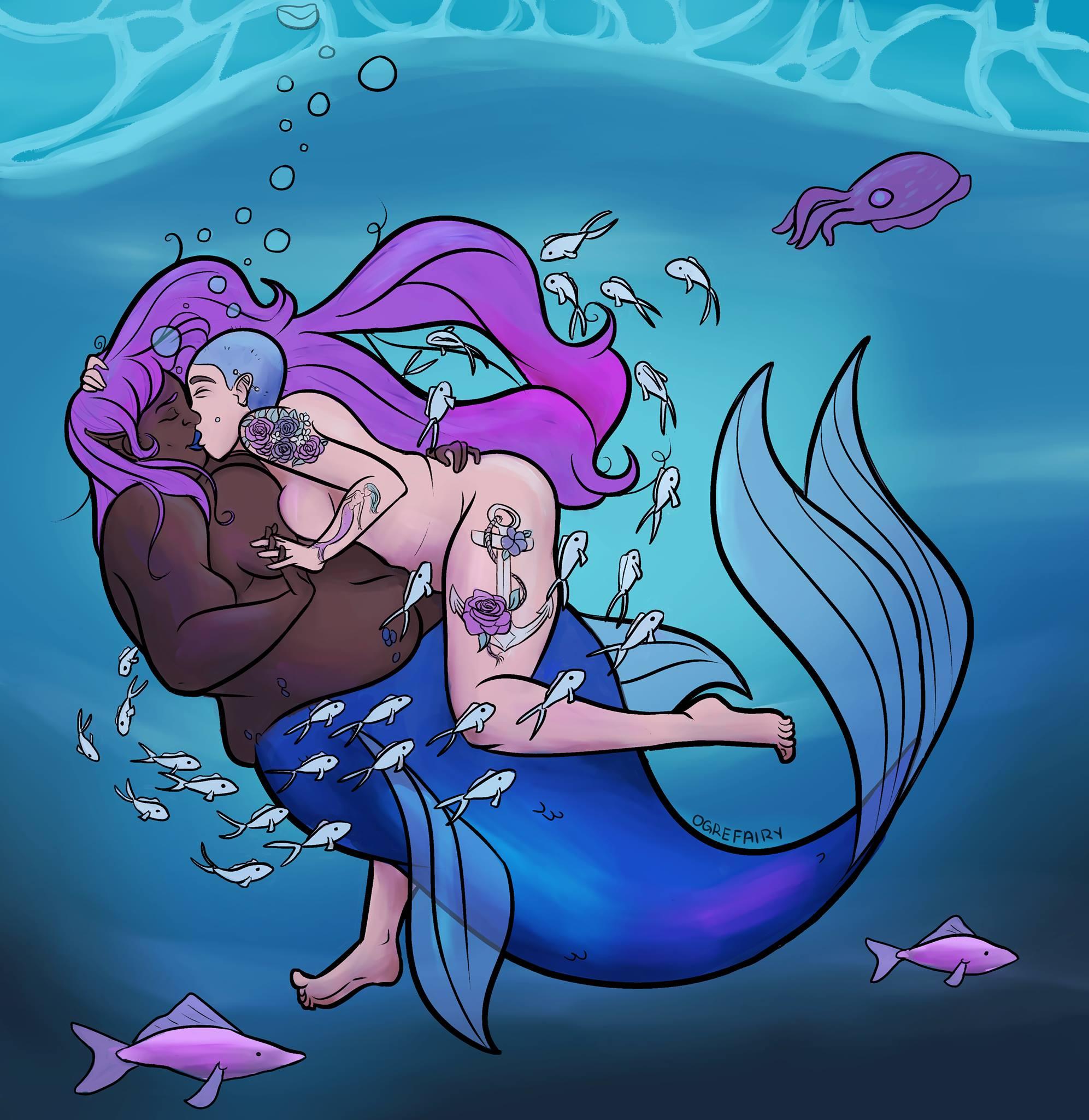 A Mermaid's Embrace
