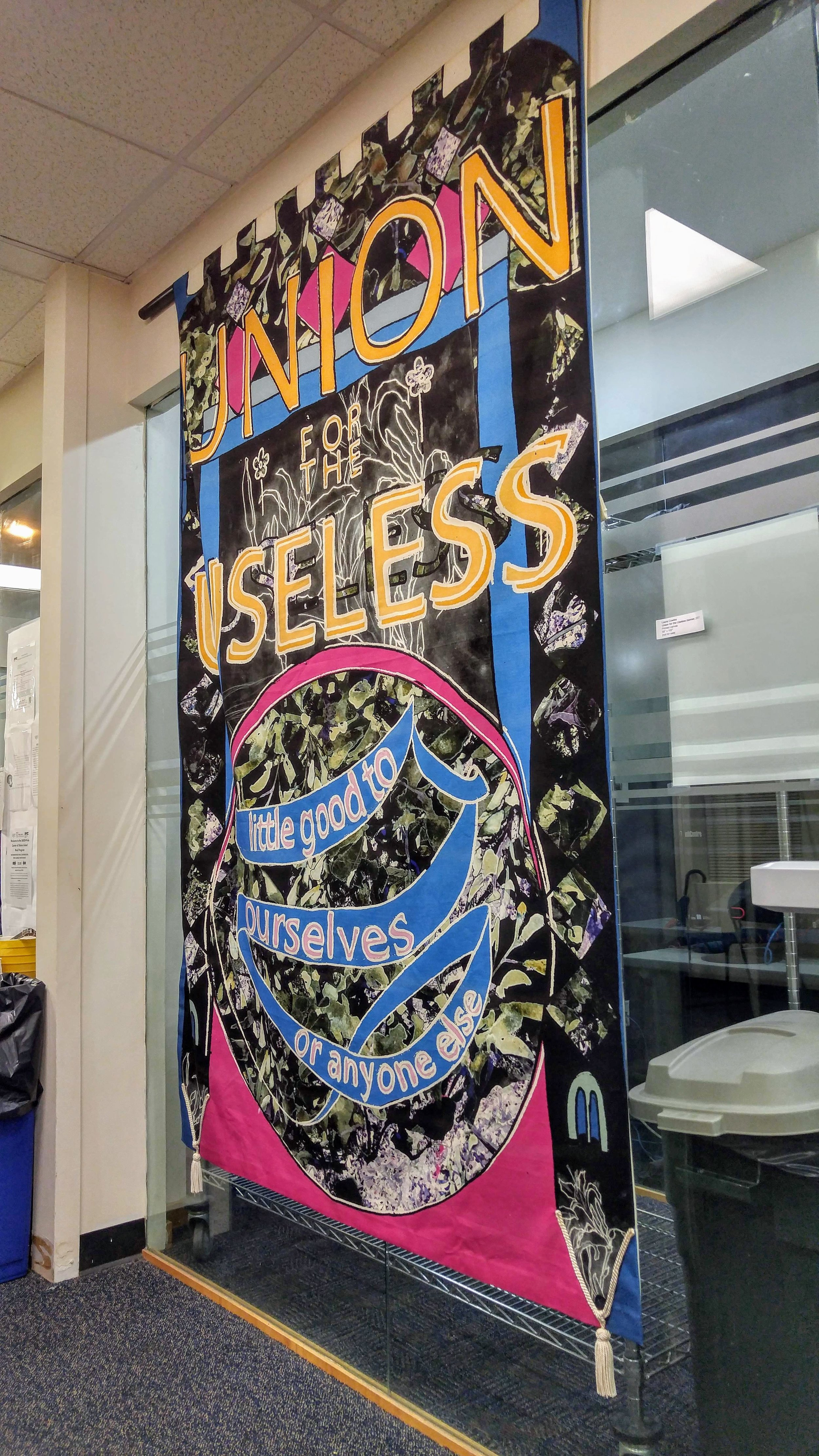 """""""Union for the Useless"""" by Laura Cowley, at """"Artists Undeterred"""""""