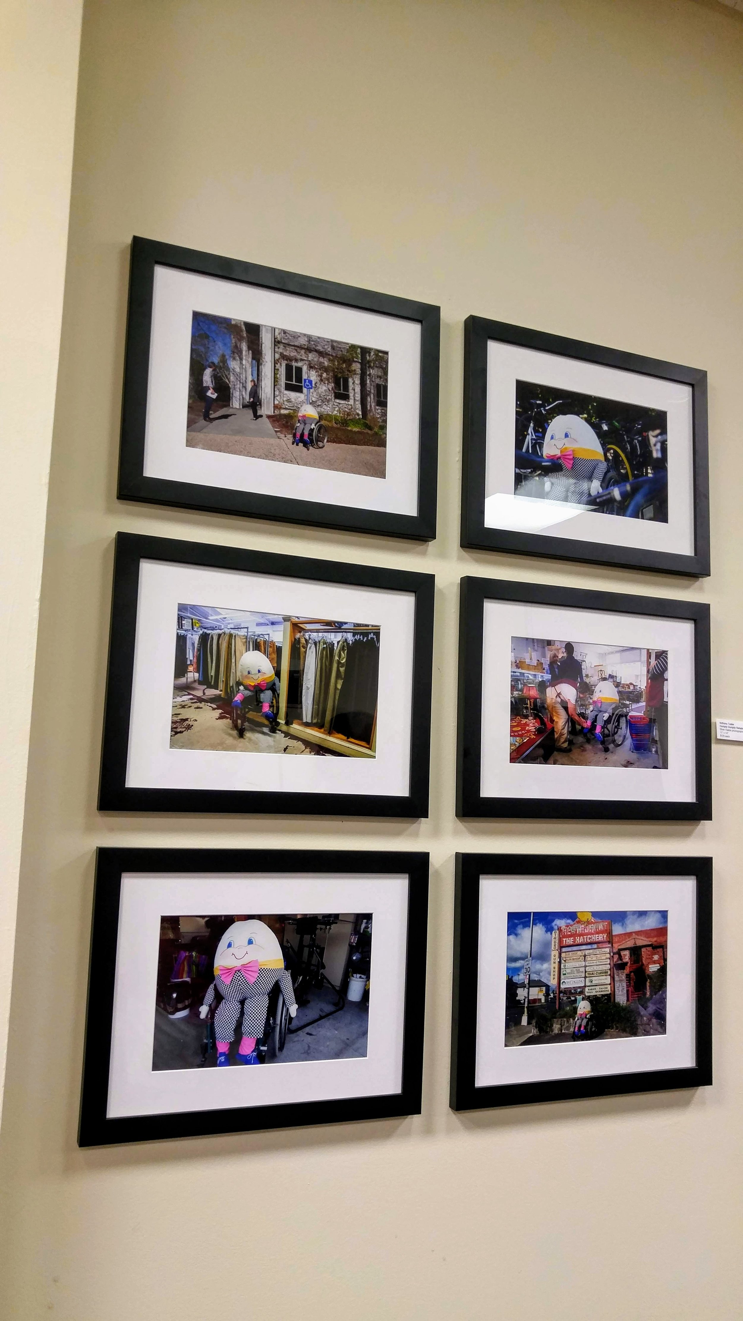 """""""Humpty Dumpty Rehabilitation Plan: #1–6"""" by Anthony Tusler at """"Artists Undeterred"""""""