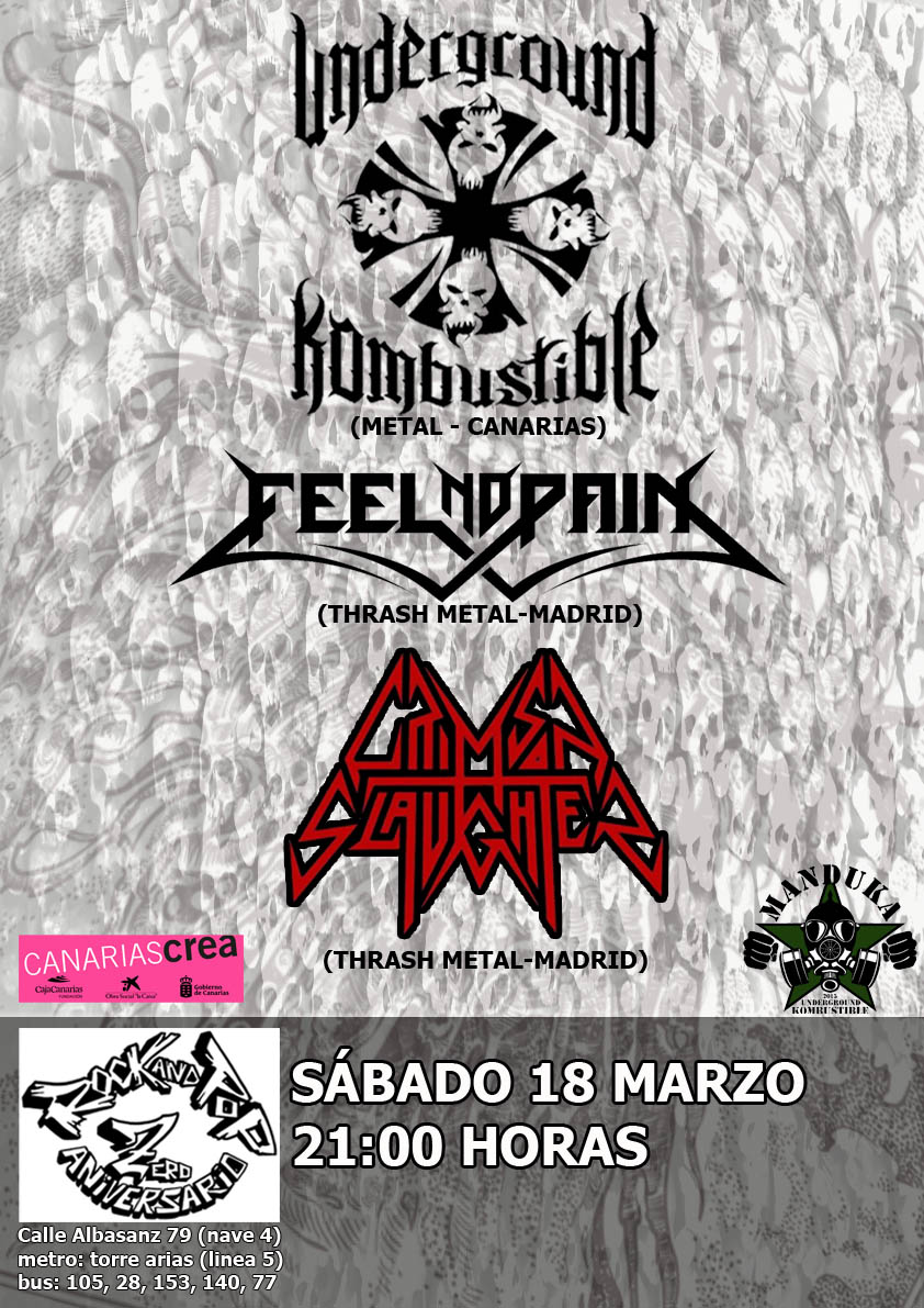 Cartel evento metal 18 marzo