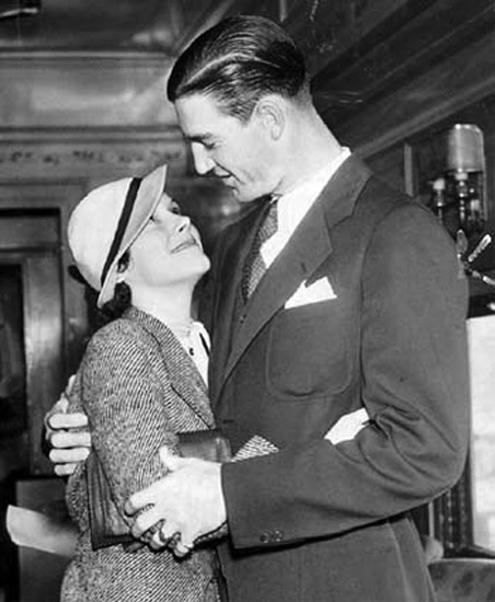 SCHOOLBOY ROWE and his famous sweetheart, edna.