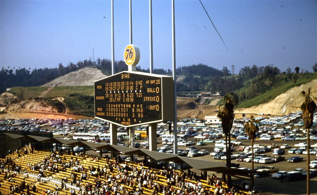 Dodger Stadium opened in 1962 and immediately set baseball's all-time attendance record.