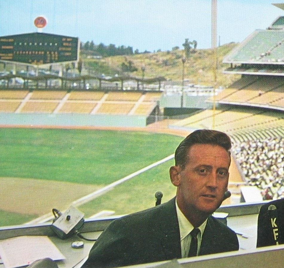 Vin Scully, 32 years old at the start of the decade, cemented his status as a legend during the 1960s.
