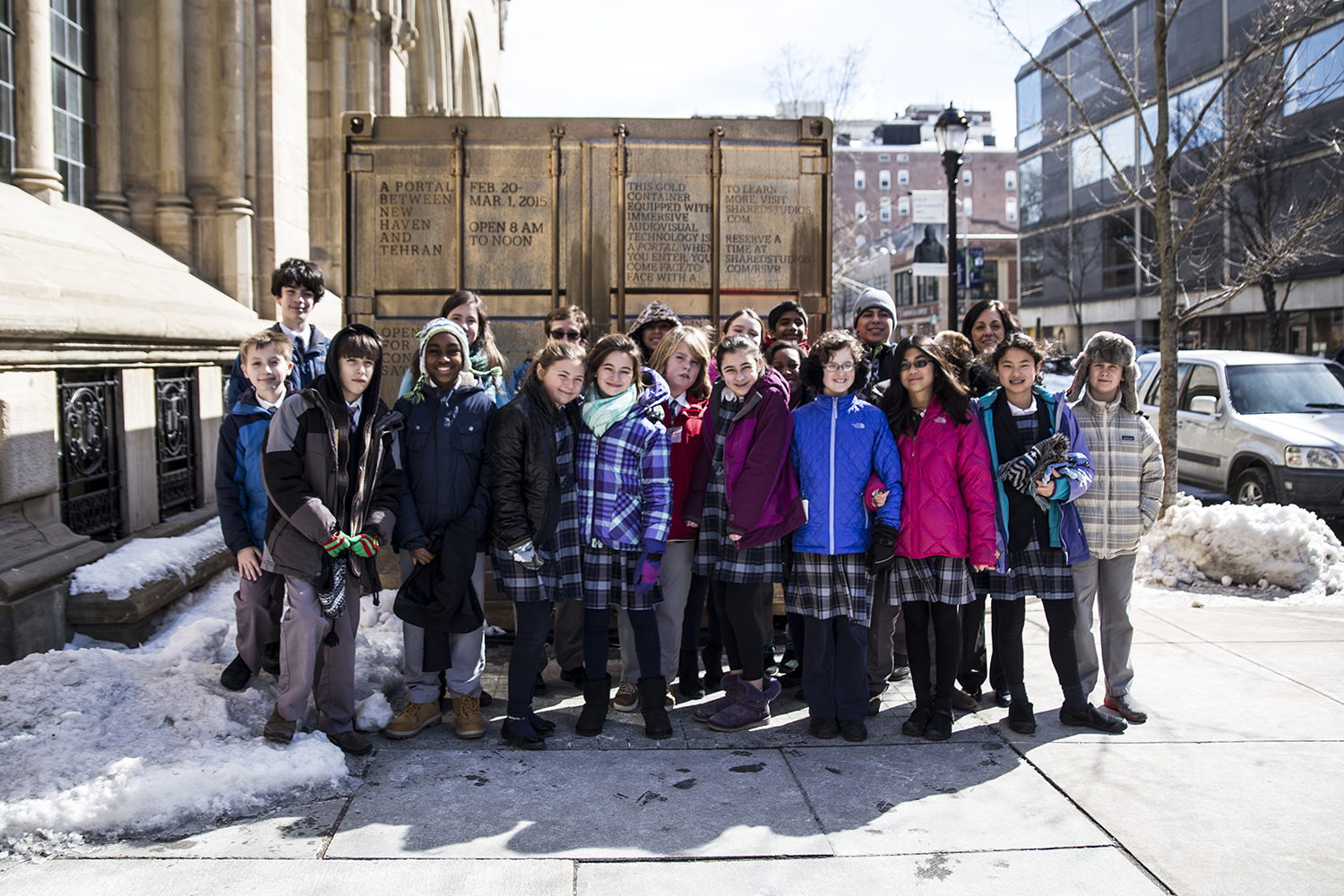 School group at the Yale University Art Gallery