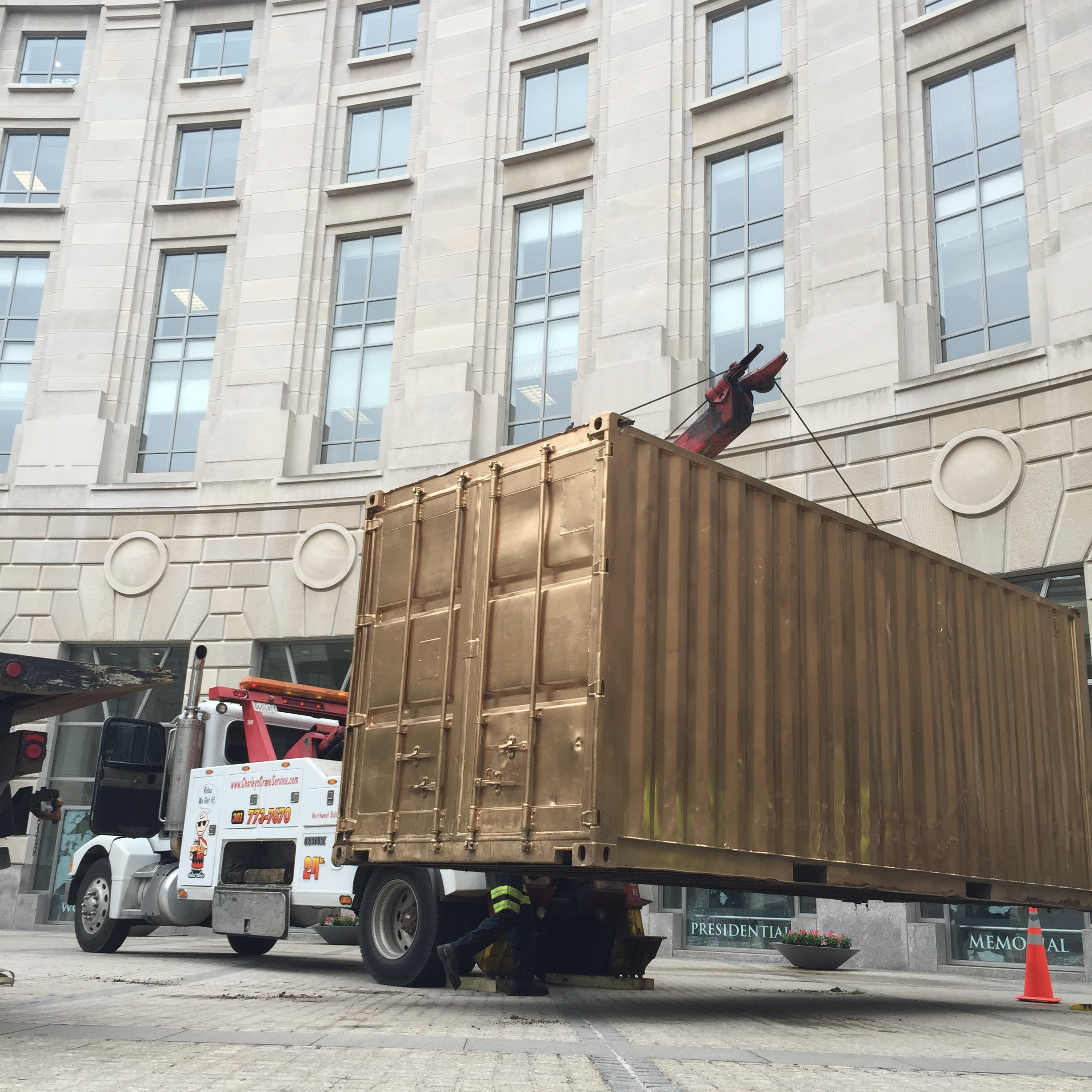 Installing the Portal at the Woodrow Wilson Plaza