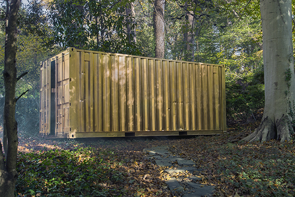 """Amar Bakshi's exhibit """"Shared_Space"""" will be in Woodrow Wilson Plaza this summer, and gives visitors the chance to enter a retrofitted shipping container and video chat with people in Havana, Cuba."""