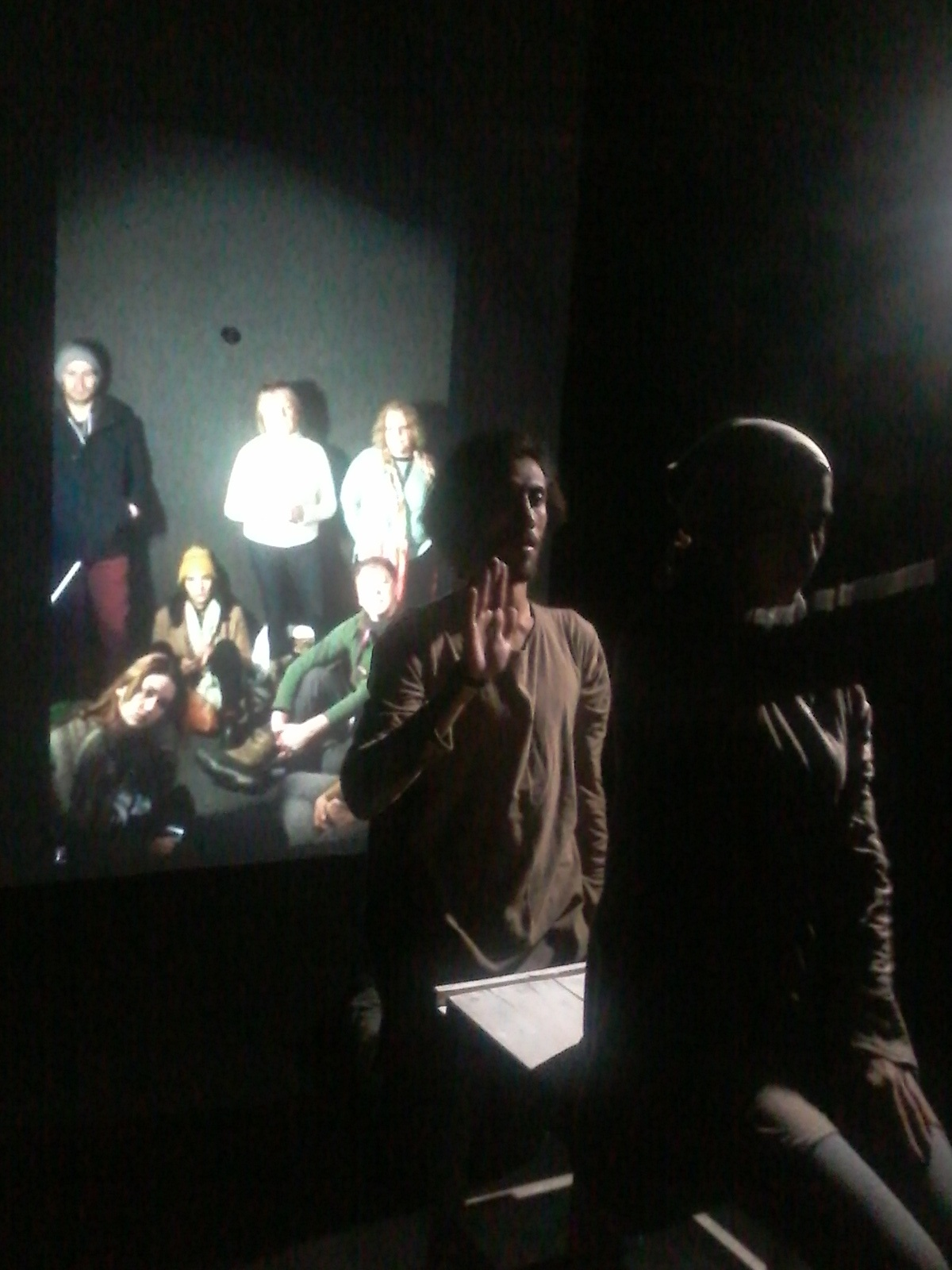 Movement piece curated for the Portal by Isfahan artists for audience at Sundance Film Festival