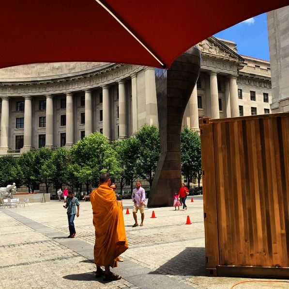 Monk after visiting the Portal at the Woodrow Wilson Plaza in DC and speaking to a stranger in the Havana Portal