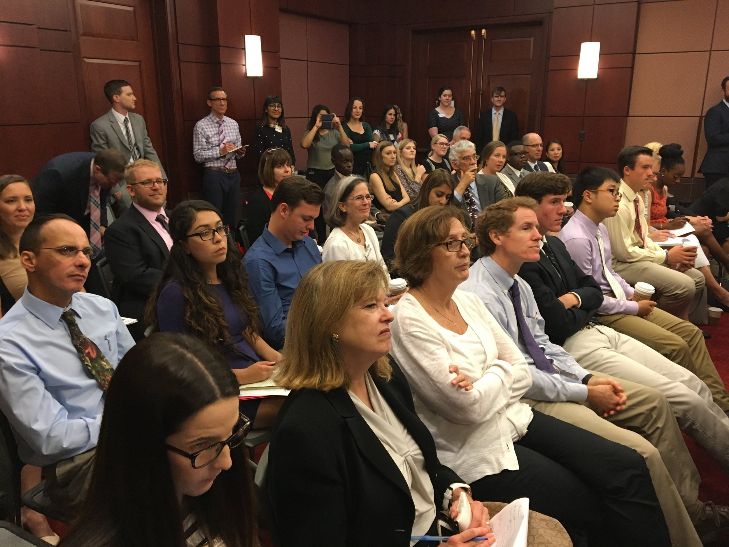 Audience in the U.S. Congress engaging refugees and IDPs through the Portals network