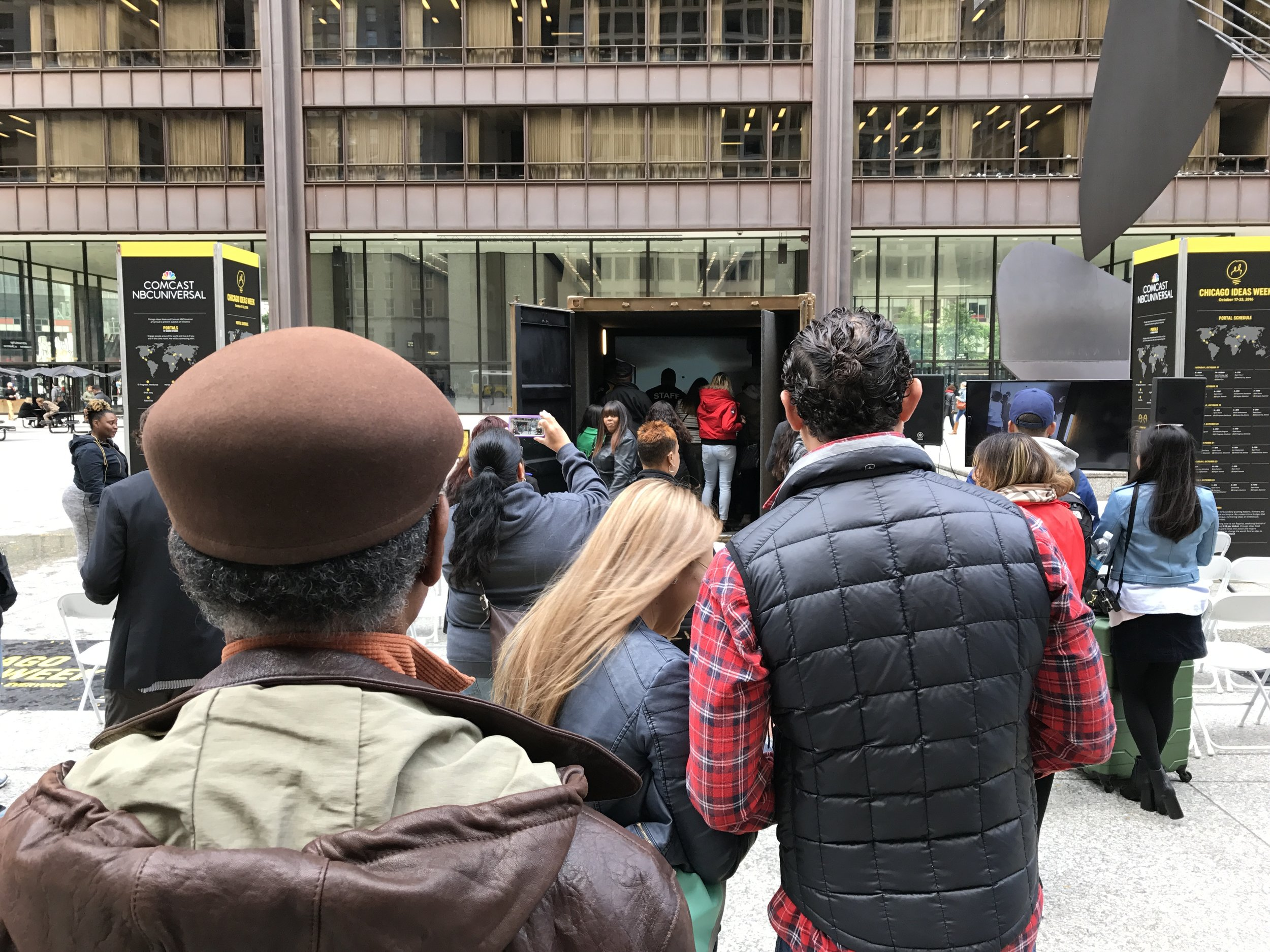An audience gathers in Chicago to watch Rick perform with Mexico City.
