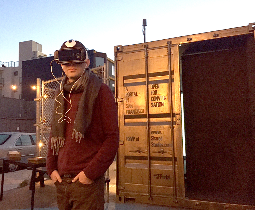San Francisco Portal participant watching VR film on Syrian refugees. Credit_ Shared_Studios.jpg