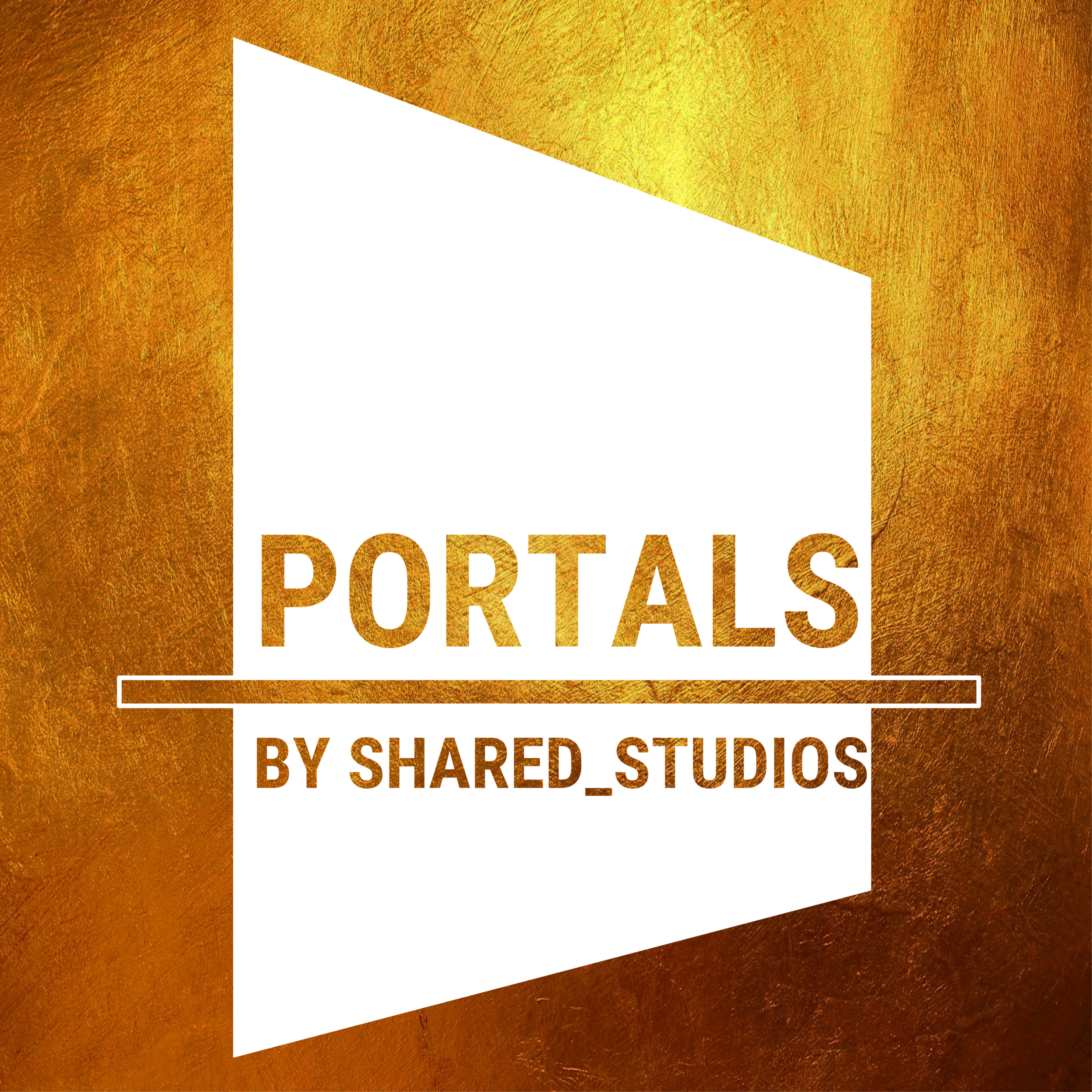 White On Gold Portals Logo:  PNG