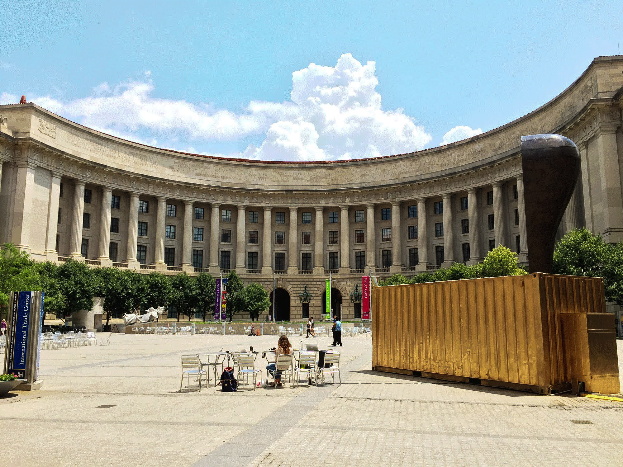 The Shared_Studios Portal in the Woodrow Wilson Plaza in Washington DC, USA.  ©Shared_Studios |  Download JPEG (1.2mb)