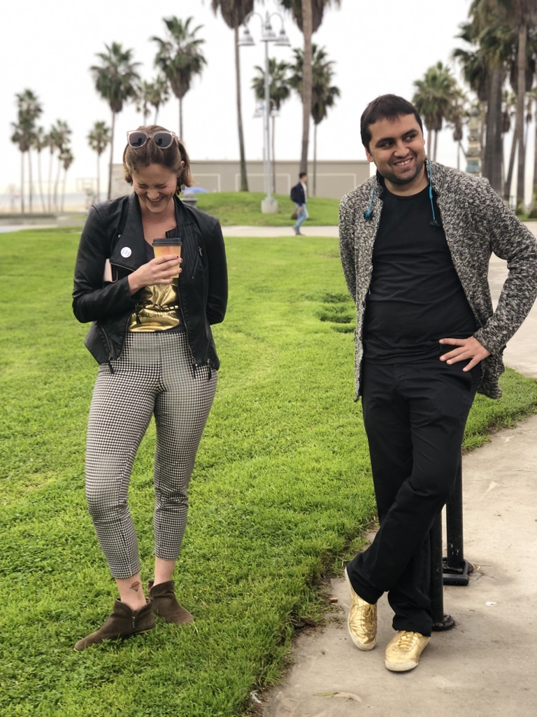 Emma and Amar, in Los Angeles