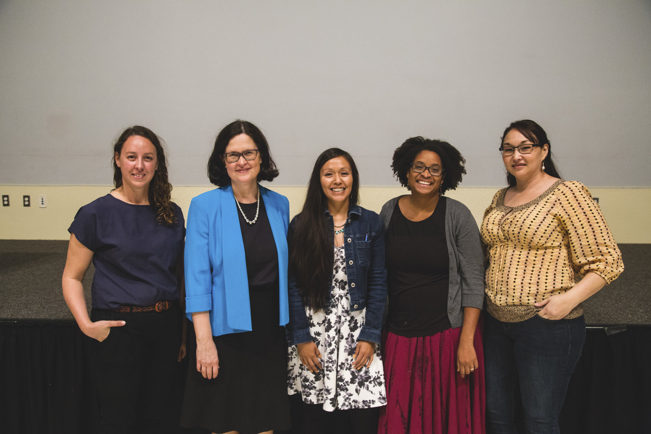 From left to right: Danea Johnson, Susannah Erler, Rocío Villalobos, Alesha Istvan, Koreena Malone. Photo by Tess Cagle.