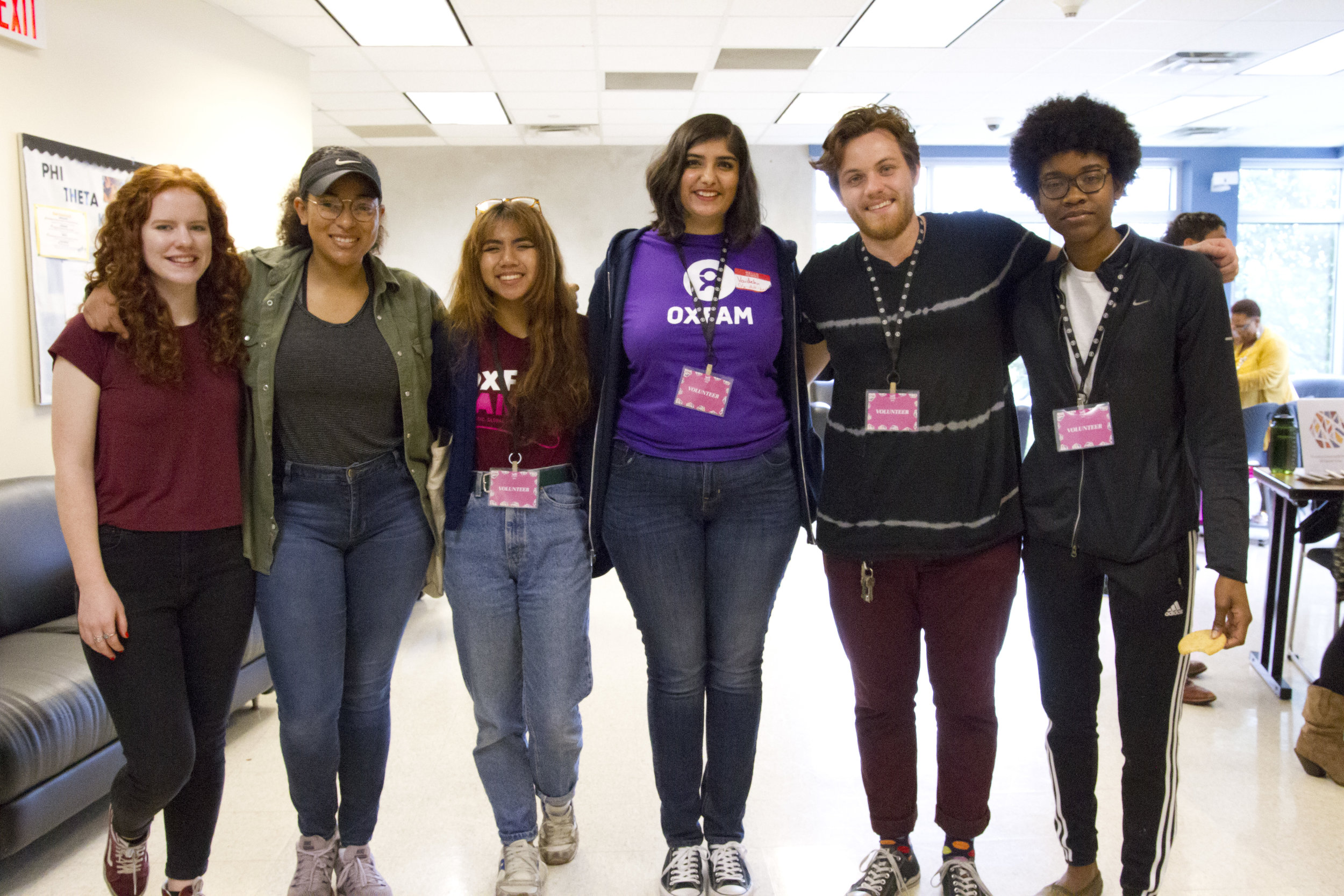 Volunteer - WE Con 2018 volunteers from The University of Texas at Austin Oxfam division.