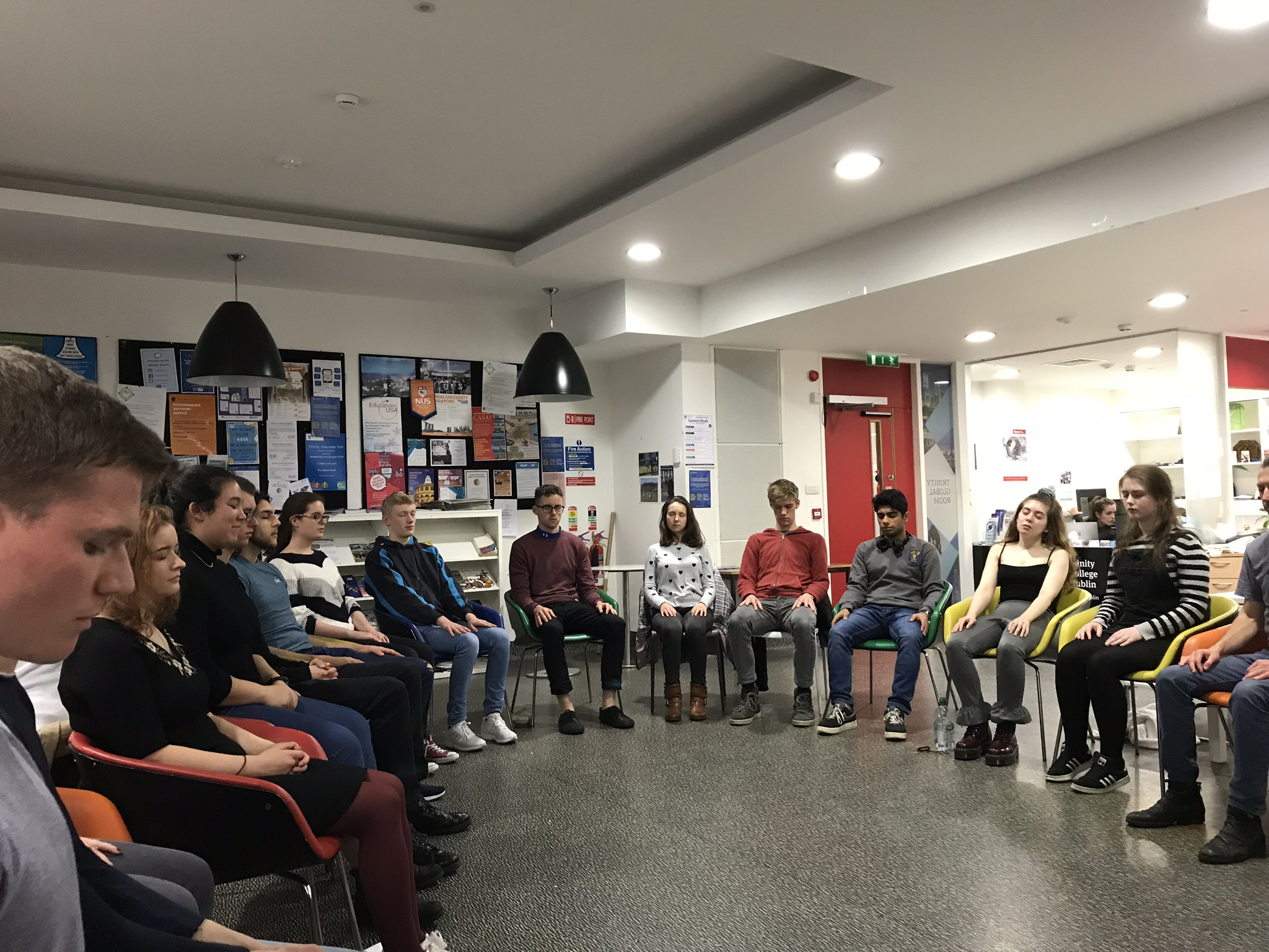 Meditation Session AMSI TCD Our Med Minds Week 2018