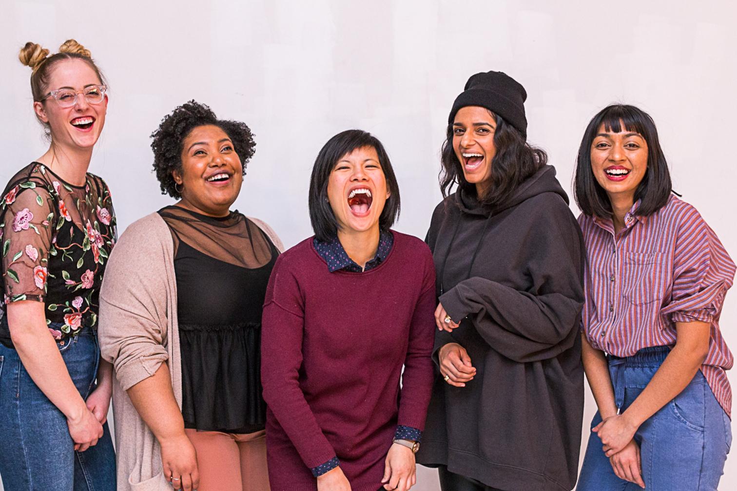 Syzygy Founders & Panelists: Marijke Large, Sulafa Silim, Jenna Tenn-Yuk, Tahsin The Good, and Kailah Bharath