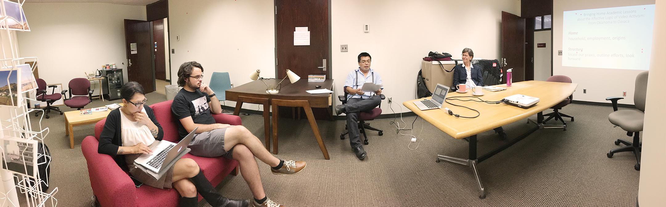 Filo Gomez presents his paper along with co-author Laurel Smith. 10/25/16