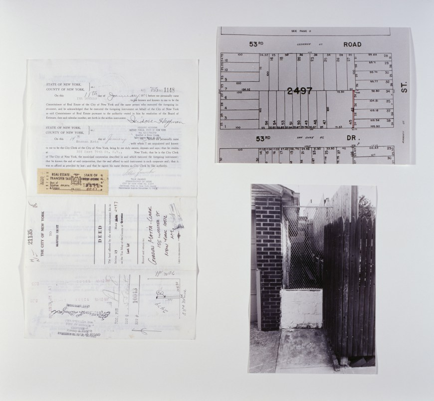 Reality Properties: Fake Estates, Little Alley Block 2497, Lot 42. Courtesy of the  Guggenheim Museum, NYC .