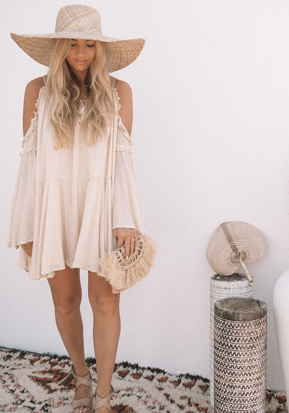 The Florence mini dress by Spell in Byron Bay. I have never made a purchase from Spell. I love how they run their business and how shopping is a bit of an experience. I absolutely ADORE this dress they have and it's on my Wishlist!Find it  here.