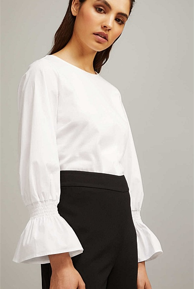 This Witchery top is super cute! I adore the sleeves. Find it  here.