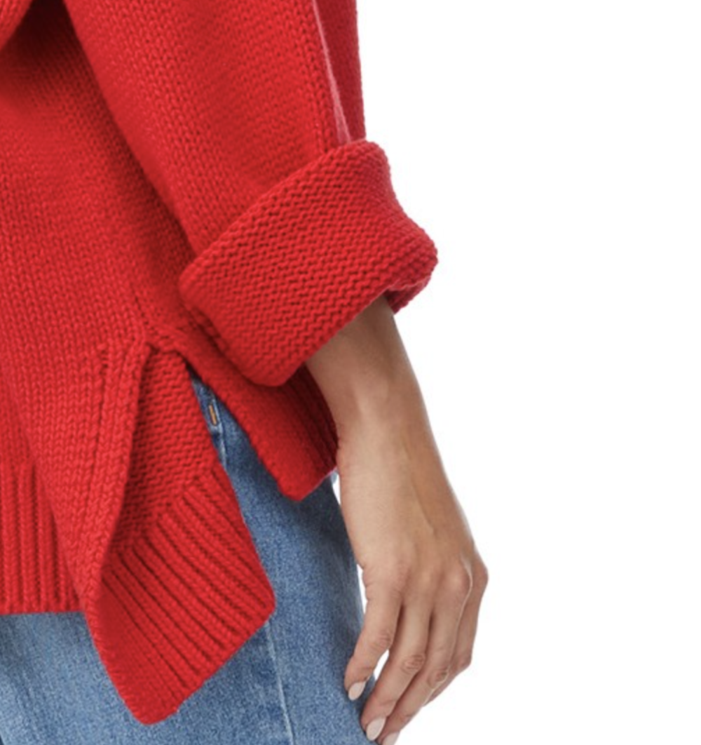 This oversized hi lo sweater is from Sportsgirl and besides being majorly snuggly, it'll add a pop of colour to any dreary rainy winters day. Find it  here.