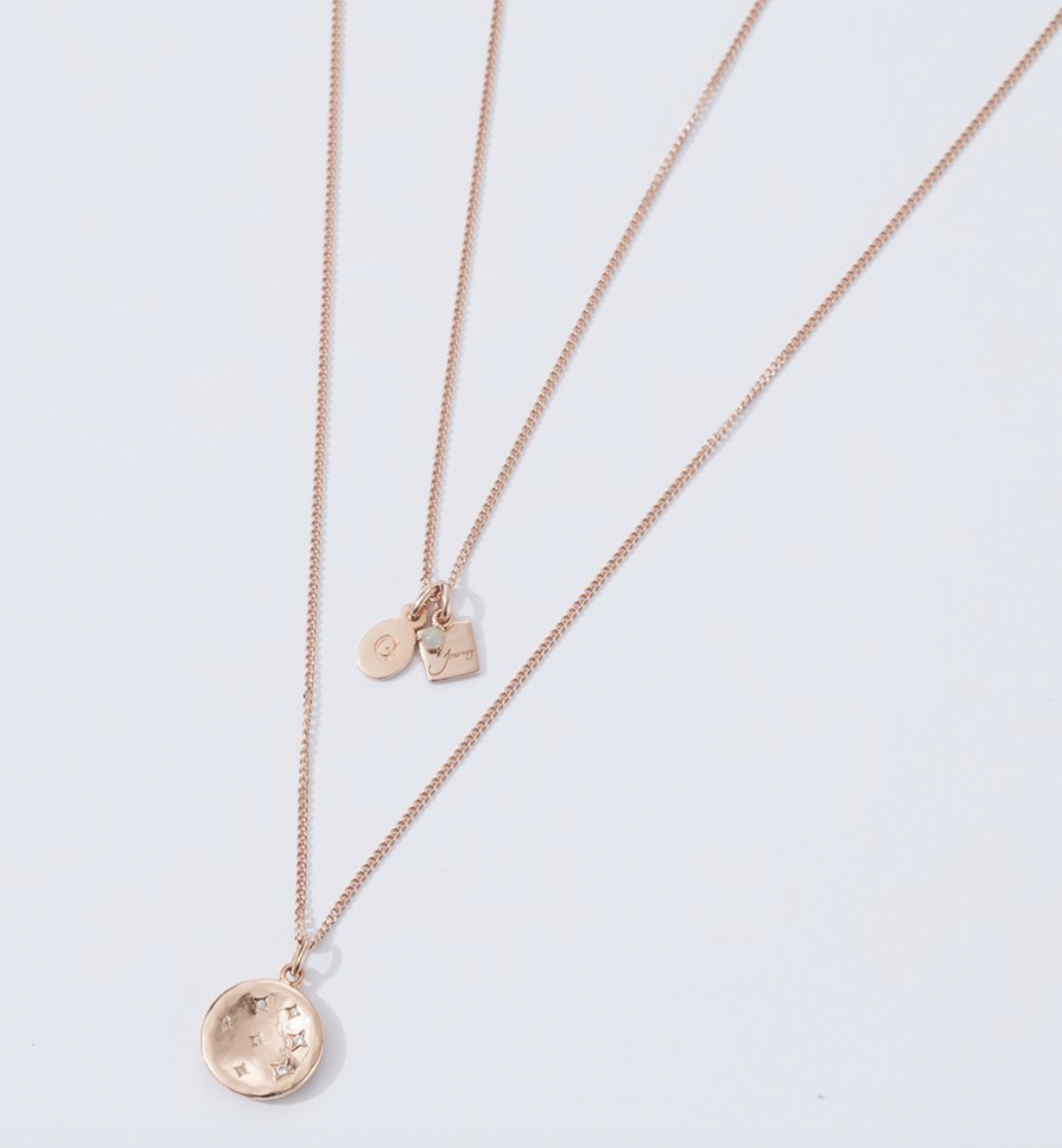 Rose gold chain $68 Also comes in sterling silver $44 and gold $48 Find them  here.