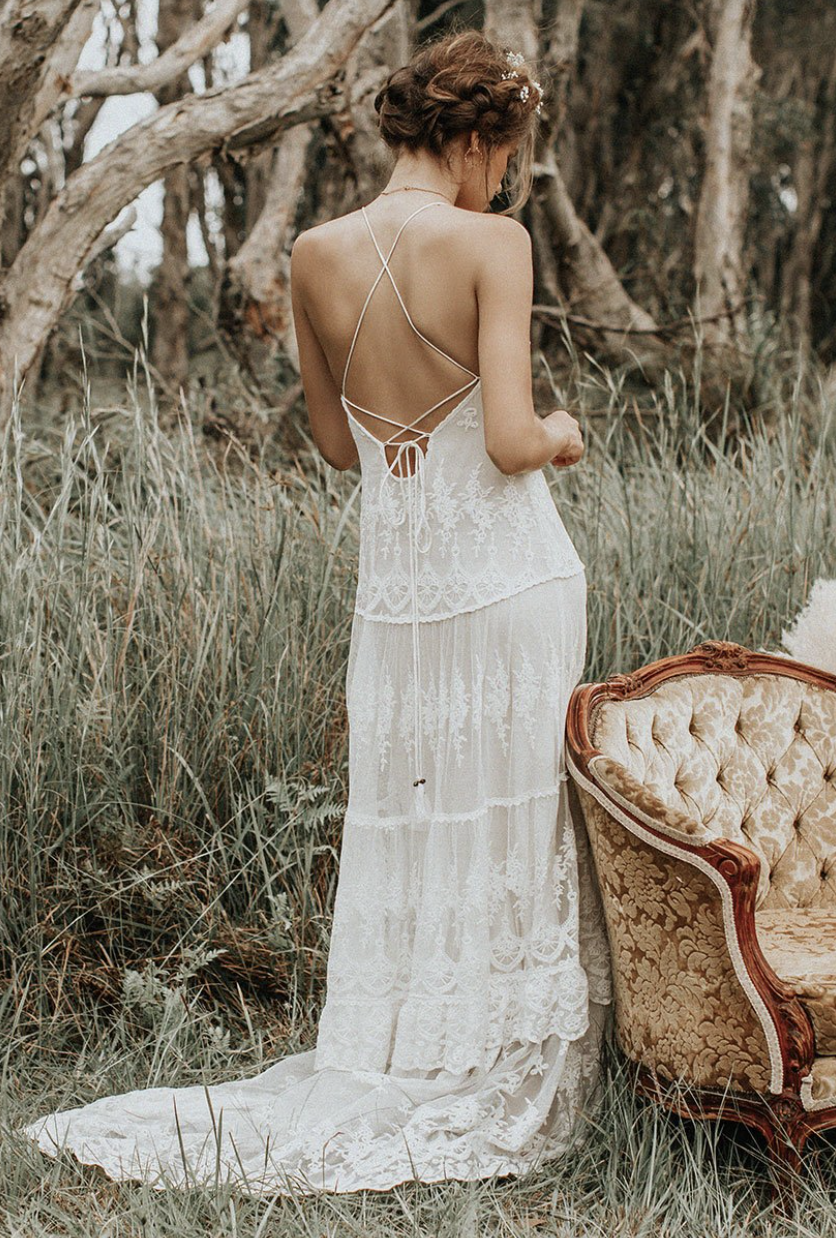 Canyon Moon Mesh Gown$795 -