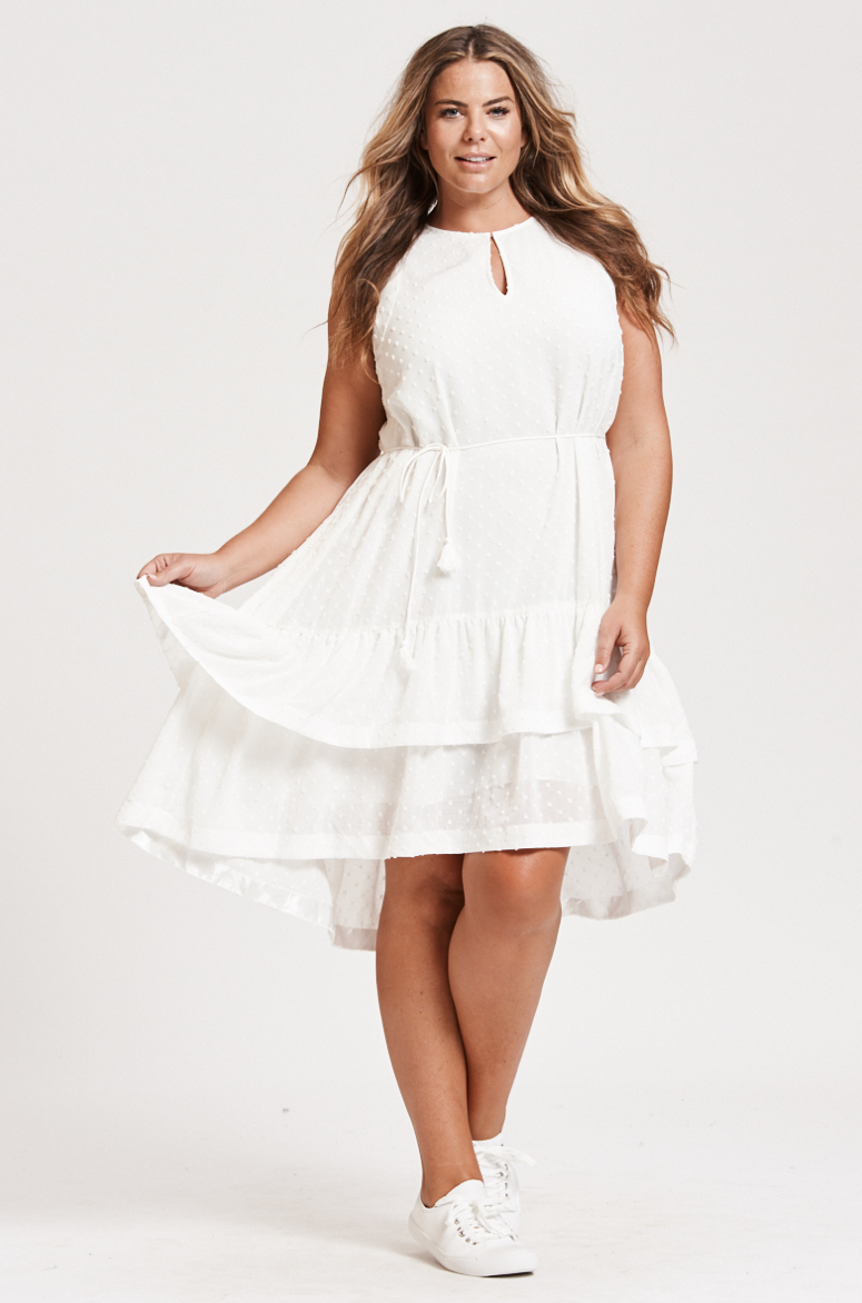 Bohemian Traders Gelato Dress in white. Find it  here.  $159.95