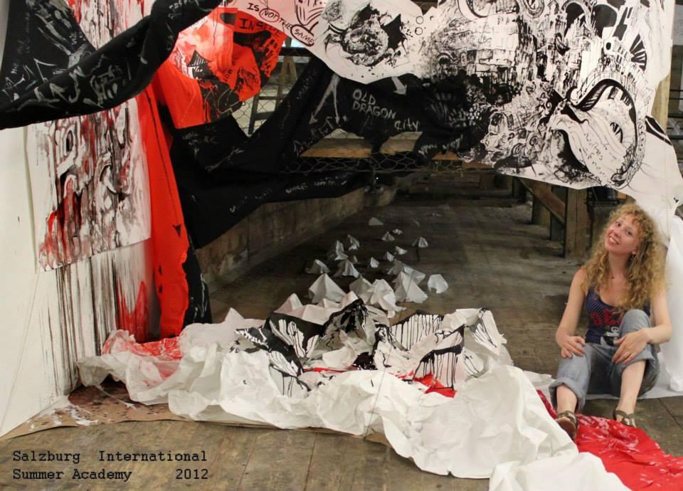 Installation «My Corner»(the International Summer Academy, Salzburg, Austria; awarded with grant by «Kultur Contact Austria»)