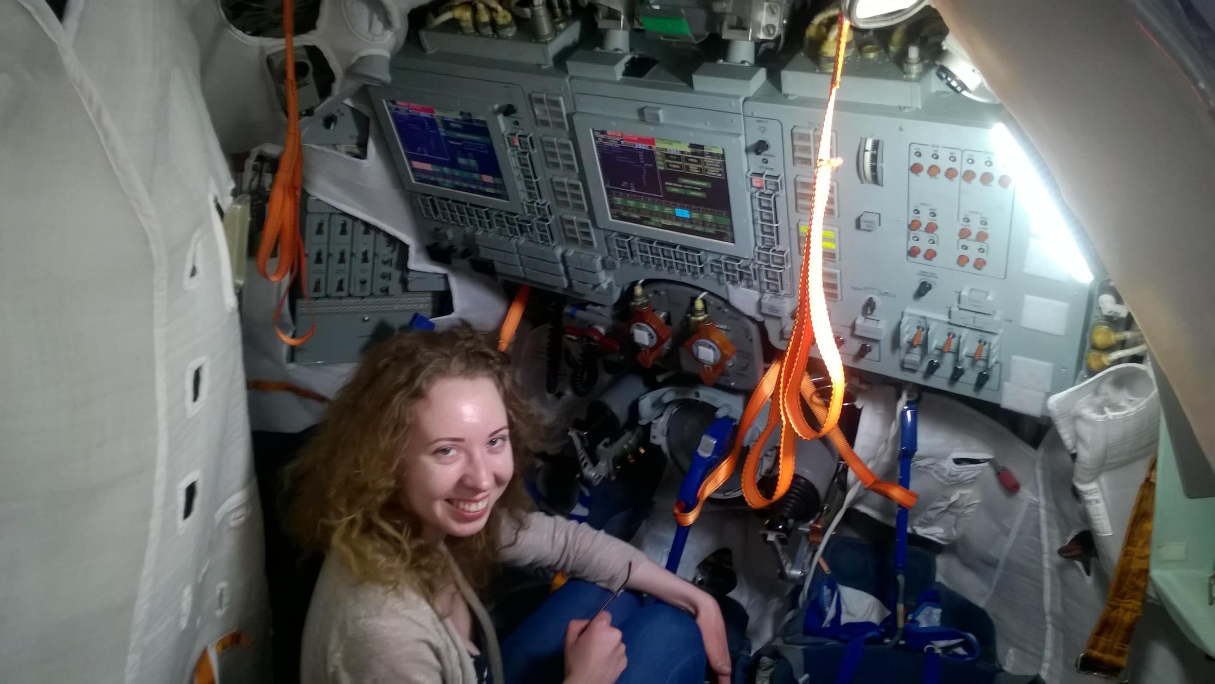 In Soyuz Spacecraft