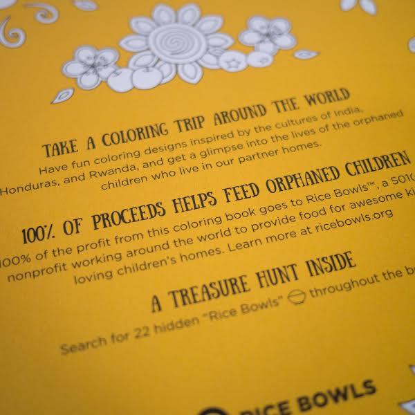 Rice Bowls coloring book